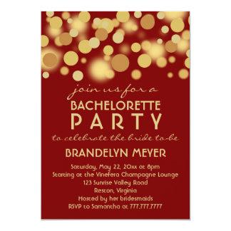 Red Champagne Bubbles Bachelorette Party Invites