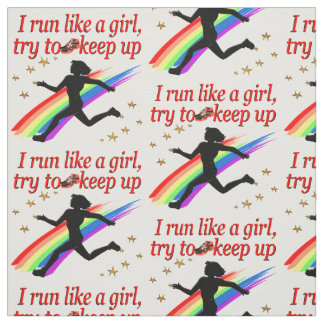 RED CHAMPION GIRL TRACK AND FIELD DESIGN FABRIC
