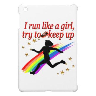 RED CHAMPION GIRL TRACK AND FIELD DESIGN iPad MINI COVER
