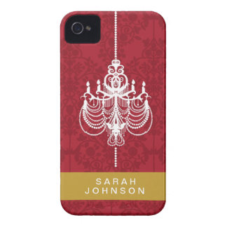 Red Chandelier Barely There™ iPhone 4/4S Cases