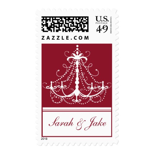 Red Chandelier - Template Postage