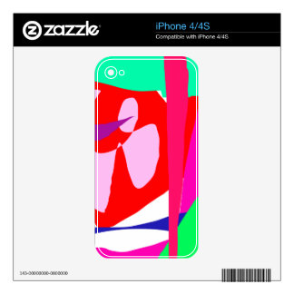 Red Chaos Creation God Power Elements Decal For iPhone 4