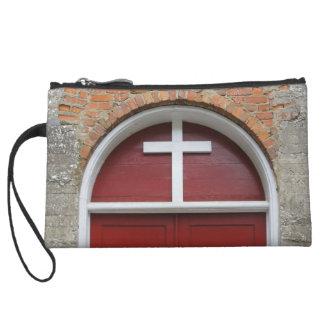 Red Chapel Door Wristlet Purses