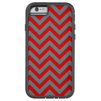 Red, Charcoal Large Chevron ZigZag Pattern Tough Xtreme iPhone 6 Case