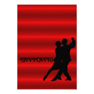 Red Charm Tango Latin Dance Invitation