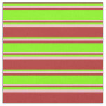 [ Thumbnail: Red, Chartreuse, and Pink Lined Pattern Fabric ]