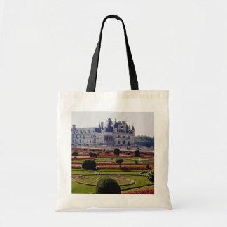 Red Chateau de Chenonceaux, flores de Francia Bolsa Tela Barata