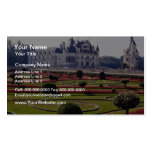 Red Chateau de Chenonceaux, France flowers Business Card