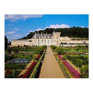 Red Chateau de Villandry y jardín, el valle del Postales