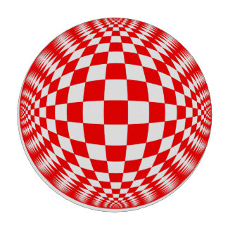 Red Check Ball poker chip set