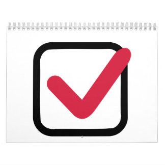 Red check mark calendar