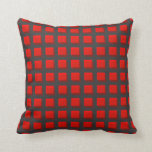 Red Checked Pillow with Dark Background