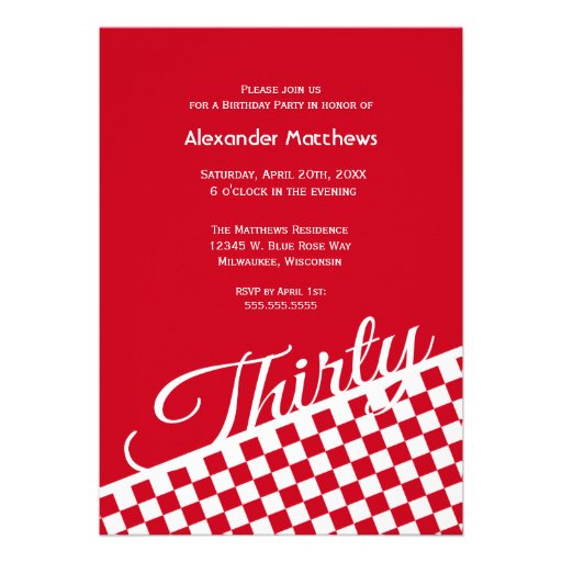 Checkerboard Wedding Invitations is awesome invitation sample