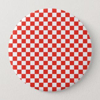 Red Checkerboard Pinback Button