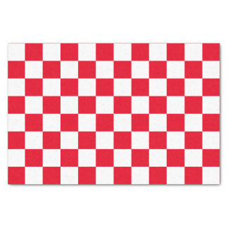 """Red Checkered 10"""" X 15"""" Tissue Paper"""