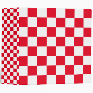 Red Checkered Binder