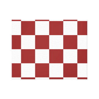 red Checkered Canvas Print