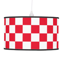 Red Checkered Ceiling Lamp