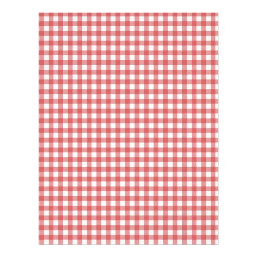 Red Checkered Cloth Customized Letterhead