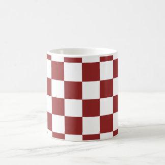 red Checkered Coffee Mug