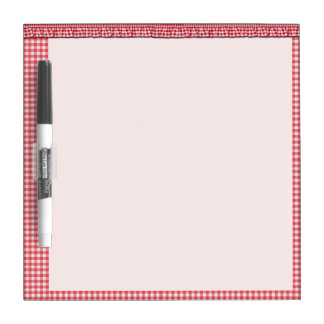 Red checkered Dry-Erase board