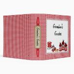 Red Checkered Kitchen Binder