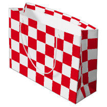 Red Checkered Large Gift Bag