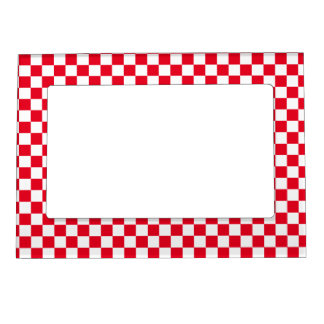 Red Checkered Magnetic Photo Frame