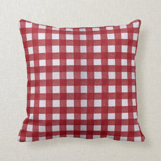 Red Checkered Pattern Pillow
