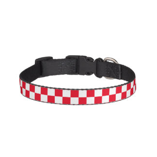 Red Checkered Pet Collar