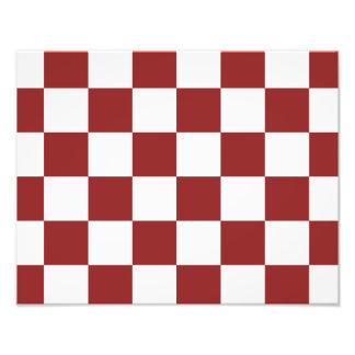 red Checkered Photo Print