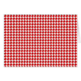 Red Checkered Picnic Tablecloth Background Card