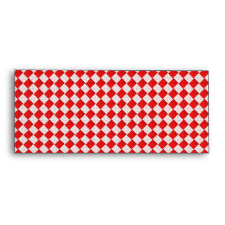Red Checkered Picnic Tablecloth Background Envelope
