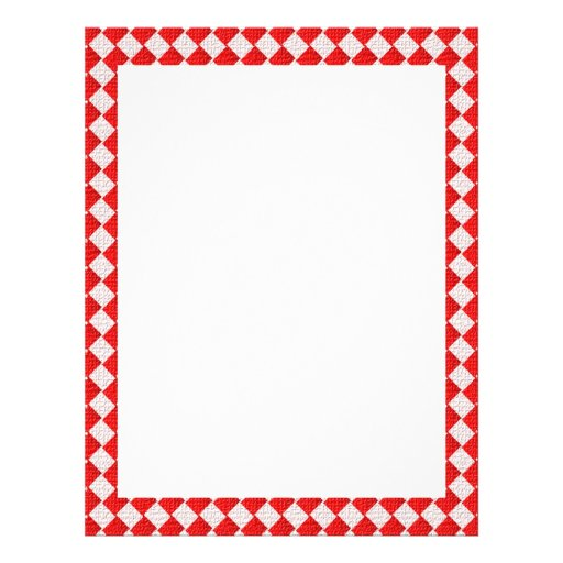 Red Checkered Picnic Tablecloth Background Flyer | Zazzle