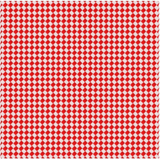 Red Checkered Picnic Tablecloth Background Acrylic Cut Out