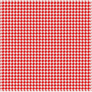 Red Checkered Picnic Tablecloth Background Statuette