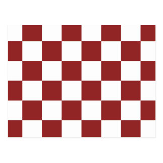red Checkered Postcard