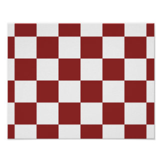 red Checkered Poster