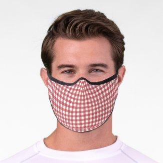 Red Checkered  Premium Face Mask