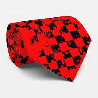 red checkered splatz. tie