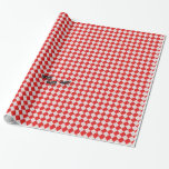 Red Checkered Table Cloth w/Ants Gift Wrapping Paper