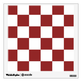 red Checkered Wall Decal