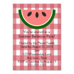 Red Checkered Watermelon Summer Party Invitation