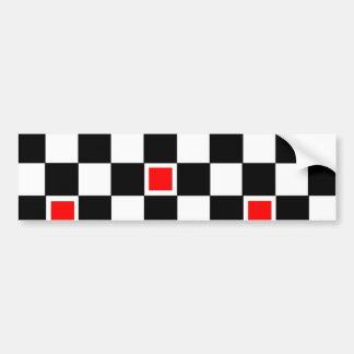 Red Checkers Bumper Sticker