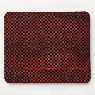 Red Checkers Mouse Pad