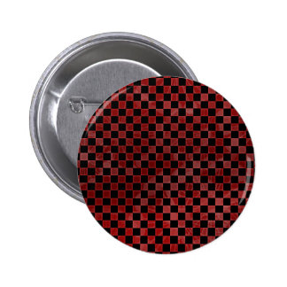 Red Checkers Pinback Button