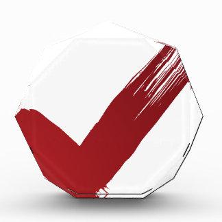 Red Checklist Brushstroke Texture Icon Acrylic Award