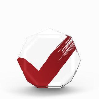 Red Checklist Brushstroke Texture Icon Award
