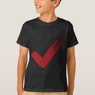 Red Checklist Brushstroke Texture Icon T-Shirt