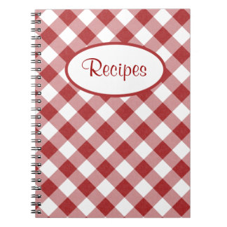 Red Checks Recipe Notebook